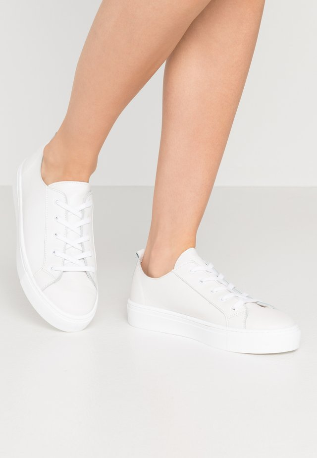 LEATHER - Trainers - white