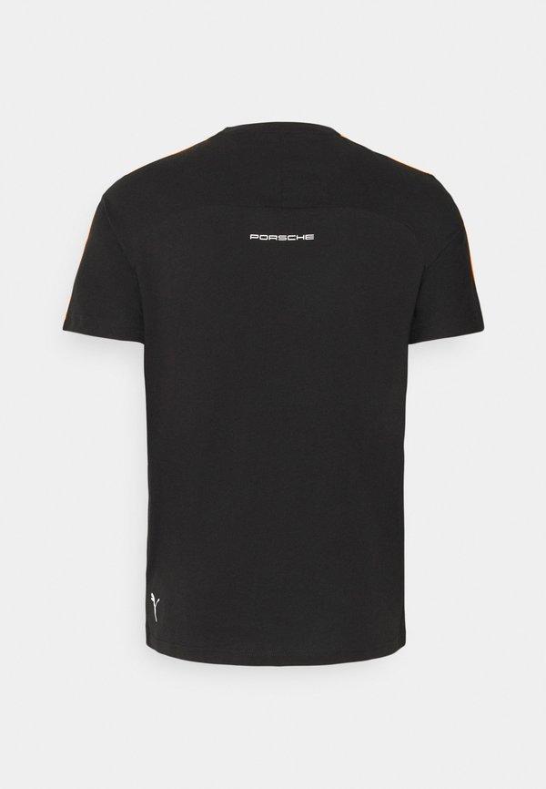 Puma TEE - T-shirt z nadrukiem - black/czarny Odzież Męska FJZD