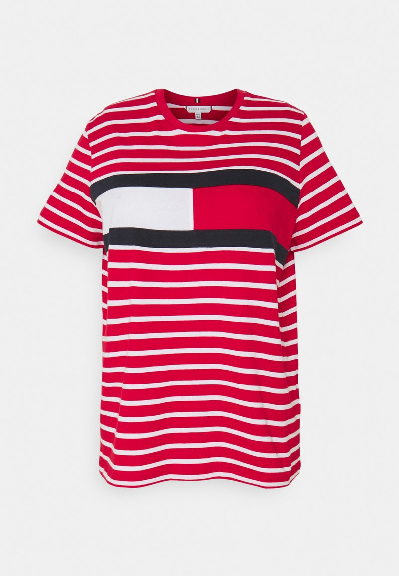 Tommy Hilfiger Curve - TEE REGULAR FIT FLAG - Print T-shirt - classic brenton / primary red