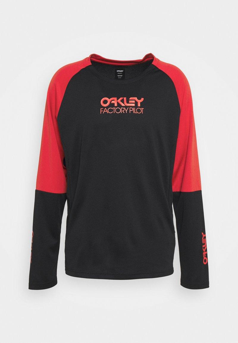 Oakley - SWITCHBACK TRAIL TEE - Long sleeved top - blackout