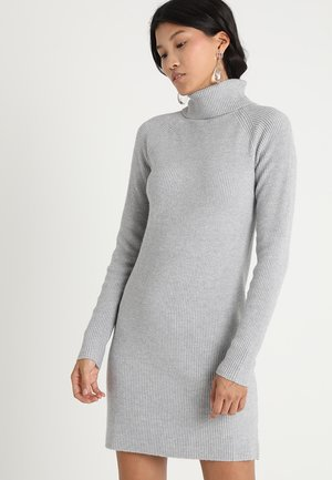 Strikket kjole - light grey melange