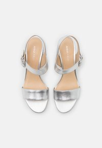Anna Field - LEATHER - Sandales - silver - 5
