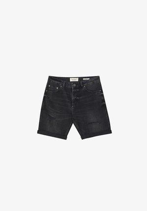 Denim shorts - mottled black