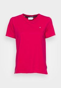 Calvin Klein - SMALL NECK  - Basic T-shirt - red - 3