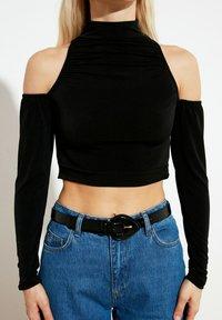 Trendyol - Long sleeved top - black - 0