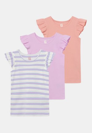 KAIA 3 PACK - T-shirt con stampa - musk melon/vanilla/pale violet