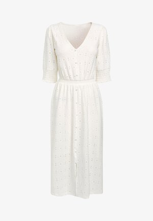 BLACK BRODERIE TIERED DRESS - Day dress - off-white