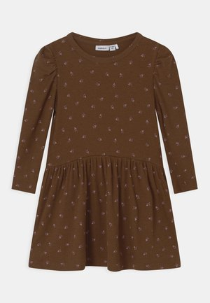 NMFDAISIA - Jersey dress - brown