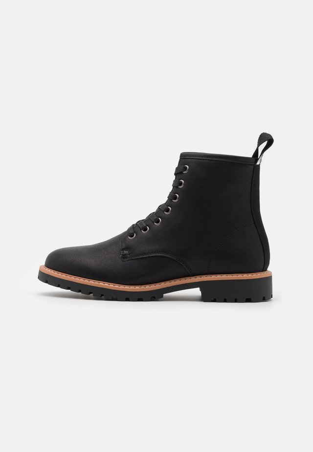 HEELER - Bottines à lacets - black