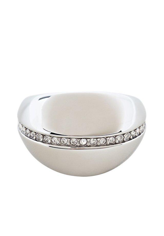 STATEMENT-RING MIT ZIRKONIA, EDELSTAHL - Ring - silver