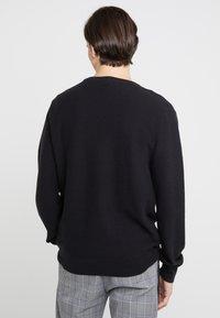 J.CREW - GARTER CREW - Stickad tröja - black - 2