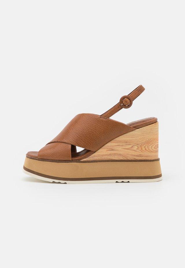 Sandalen met plateauzool - bueno