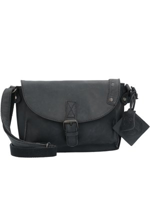 VINTAGE REVIVAL LEDER - Across body bag - black