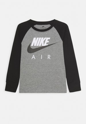 AIR RAGLAN - Long sleeved top - carbon heather/black