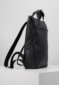 Zign - UNISEX LEATHER - Batoh - black - 4