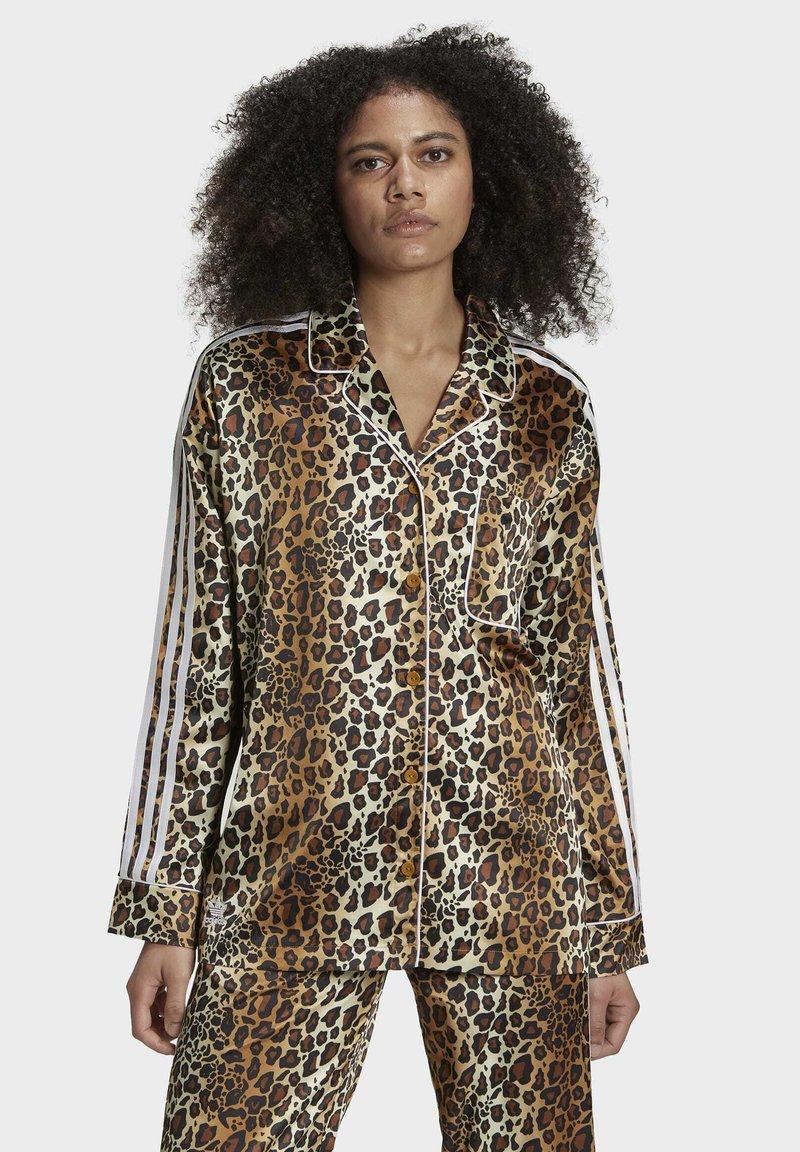adidas Originals - LEOPARD - Button-down blouse - brown