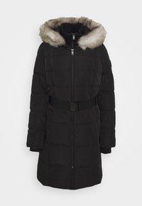 WAISTED PUFFER - Winter coat - black