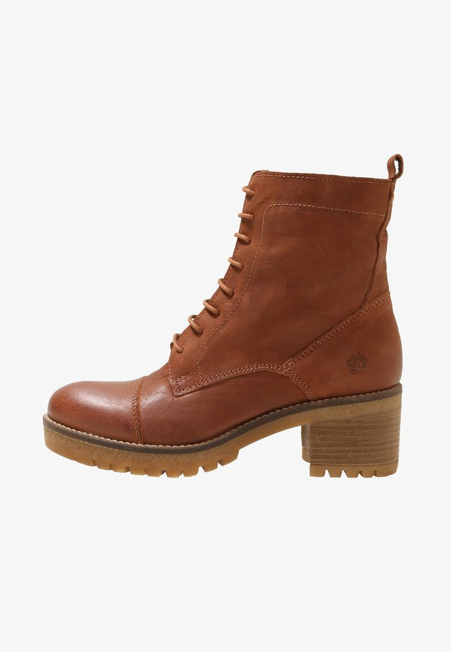 AMY - Lace-up ankle boots - cognac