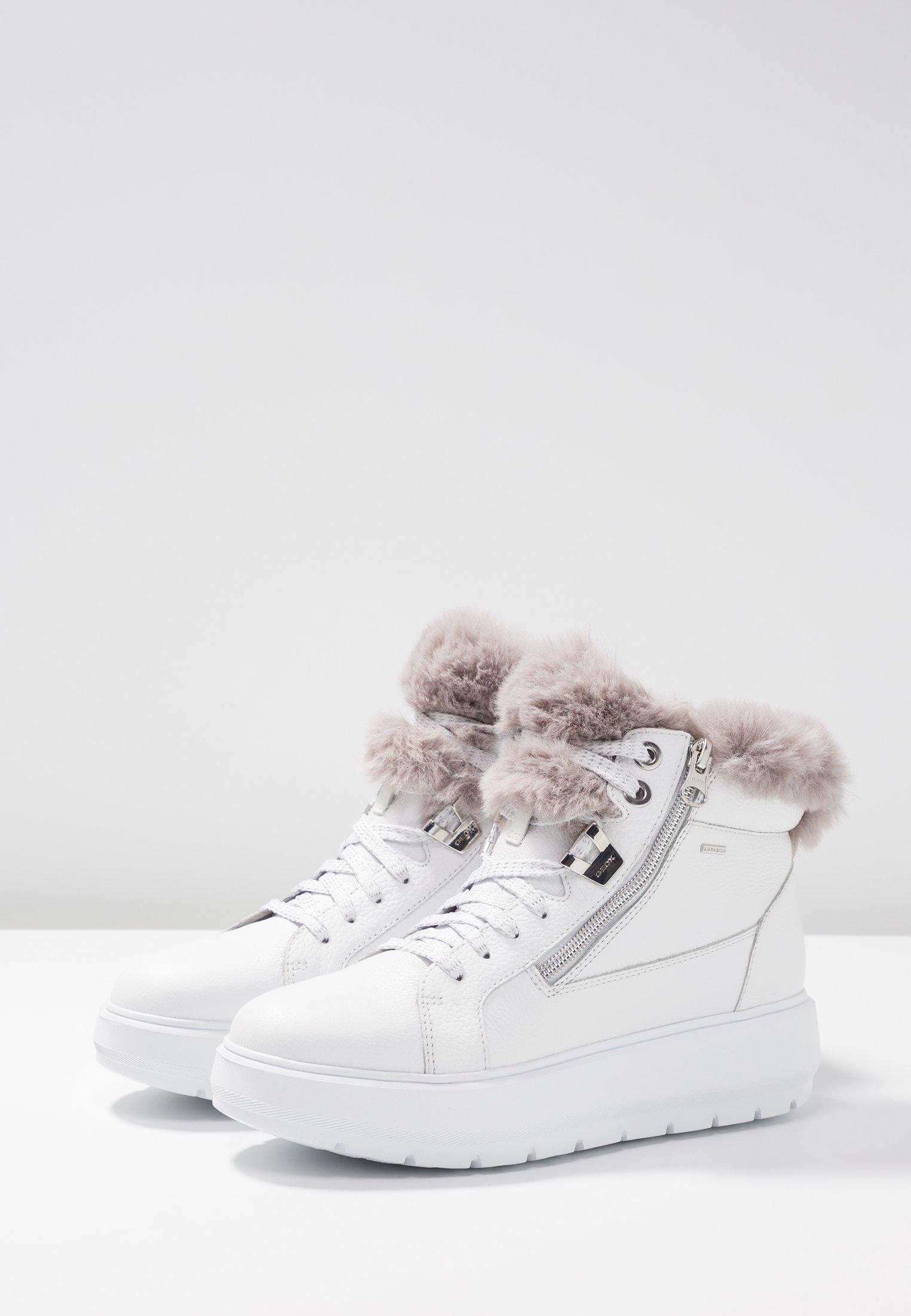 Geox KAULA ABX - Ankelboots - white/dark grey