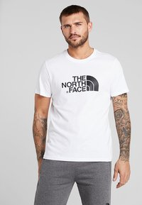 The North Face - EASY TEE SUMMIT GOLD - T-shirts med print - white - 0