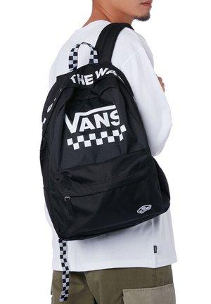 WM STREET SPORT REALM BACKPACK - Plecak - black/white checkerboard