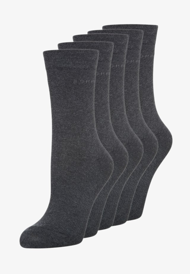 5-PACK - Calze - anthracite