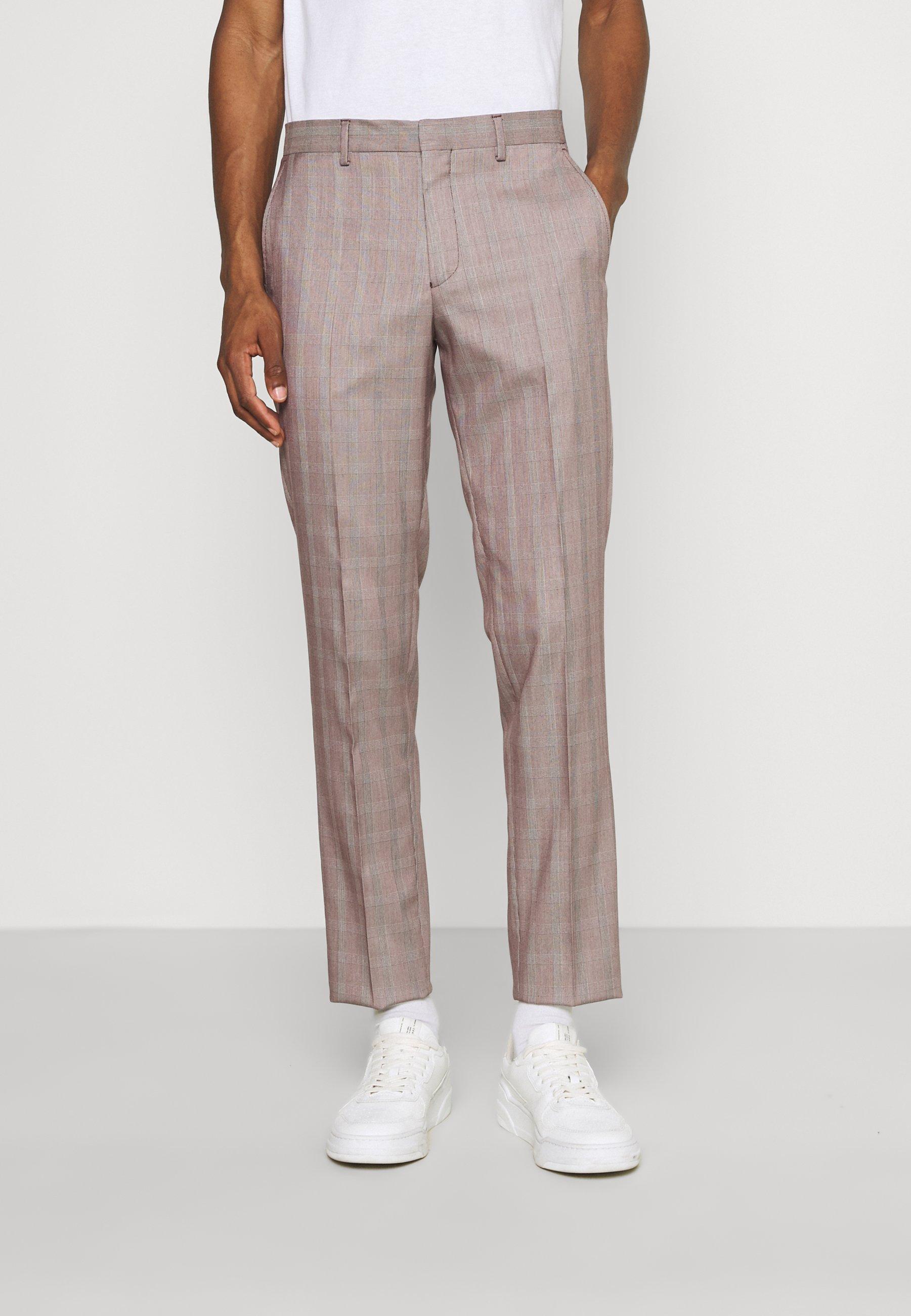 Homme SLHSLIM KNOXLOGAN CHECK - Pantalon classique