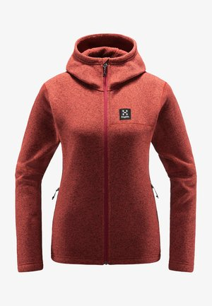 Fleece jacket - brick red