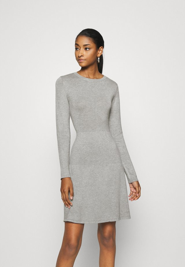 VIBOLONSIA - Pletené šaty - light grey melange