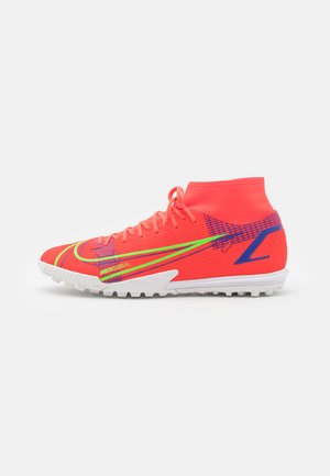 MERCURIAL 8 ACADEMY TF - Astro turf trainers - bright crimson/metallic silver
