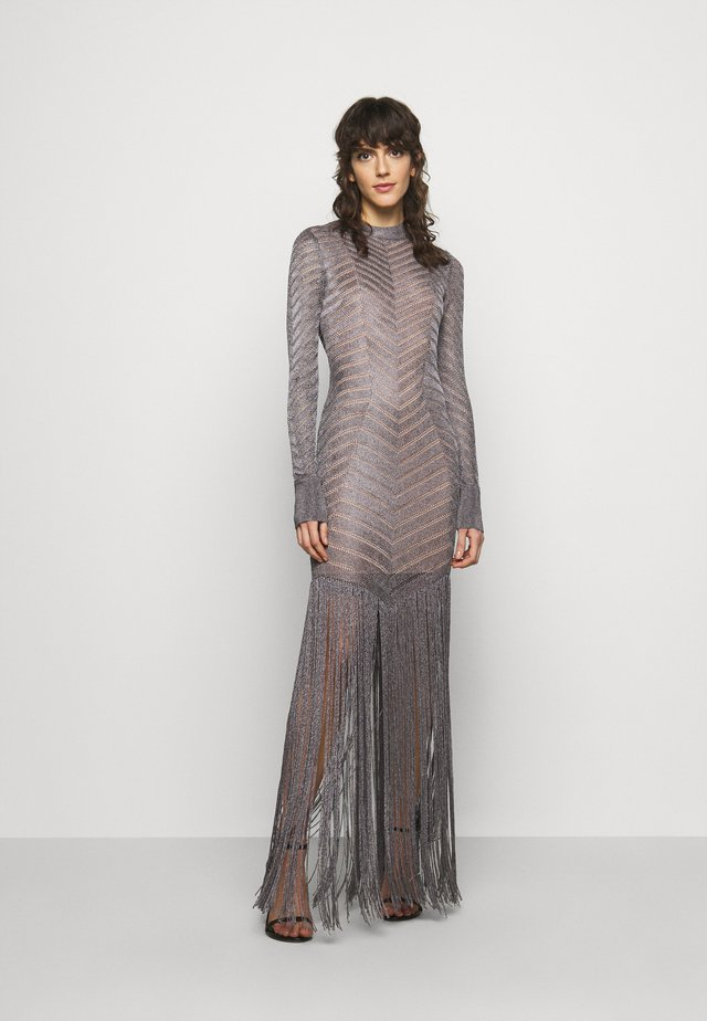 FRINGE GOWN - Occasion wear - gunmetal