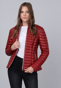 Basics and More - Leather jacket - red - 2
