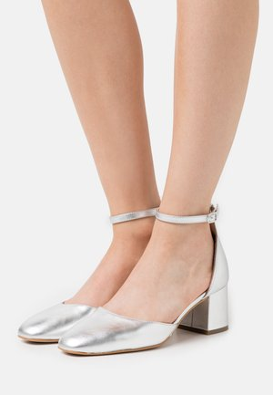 LEATHER - Klassiske pumps - silver