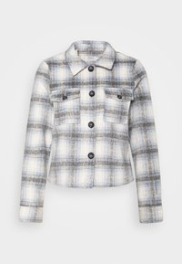 ONLY - ONLLOU SHORT CHECK JACKET - Summer jacket - pumice stone/allure - 5