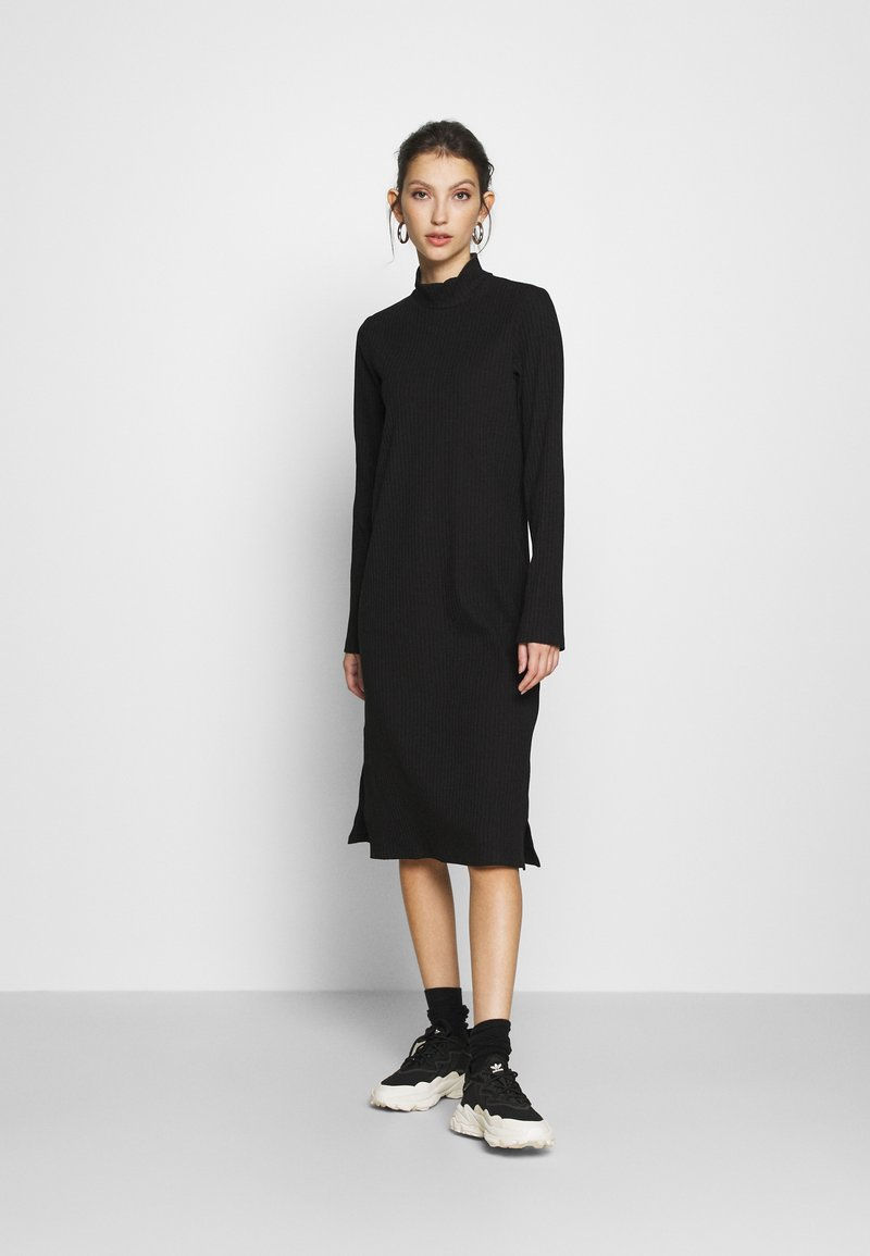 Monki - DEVA DRESS - Jersey dress - black
