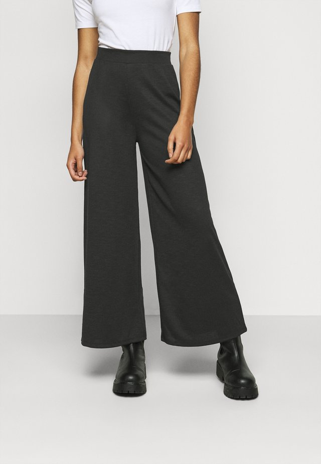 ONLLAYLA WIDE PANTS  - Kangashousut - black