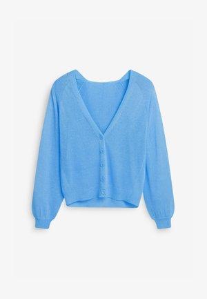 HOODED - Cardigan - blue