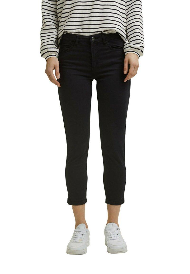 Esprit - MR CAPRI - Trousers - black
