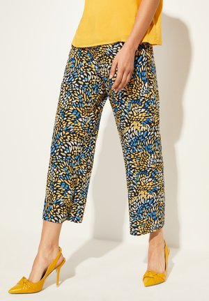 Trousers - yellow colorful dots