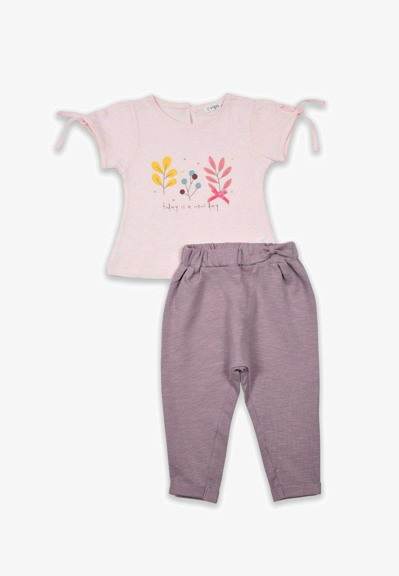 Cigit - Set  - Pantalon classique - light pink