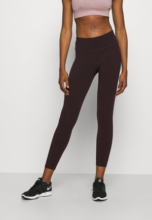 POWER WORKOUT 7/8 LEGGINGS - Leggings - black cherry/purple