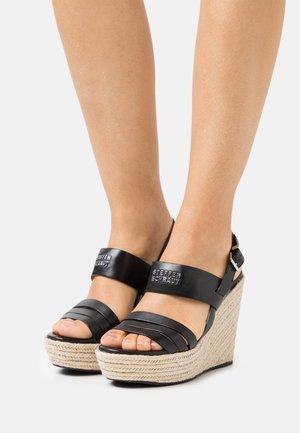 78 BAY STREET - Sandalen met hoge hak - black