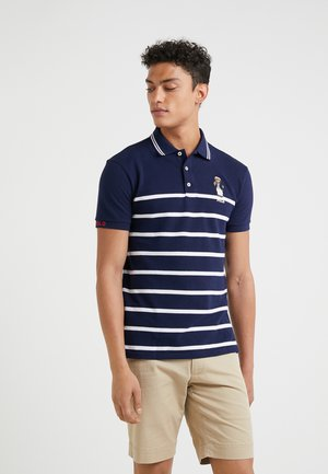 BASIC - Poloshirts - cruise navy/white