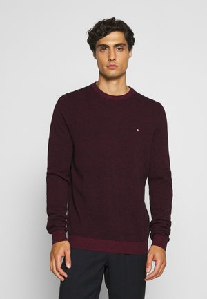 MOULINE STRUCTURE CREW NECK - Neule - red