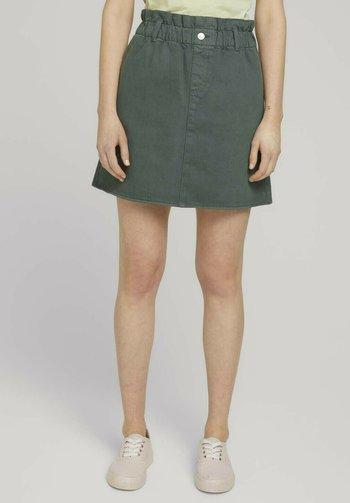 MIT BIO-BAUMWOLLE - A-line skirt - dusty pine green