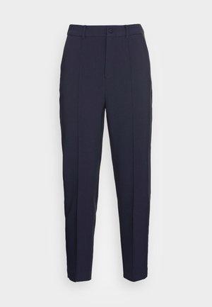 BASIC BUSSINESS PANTS WITH PINTUCKS  - Pantalones -  dark blue