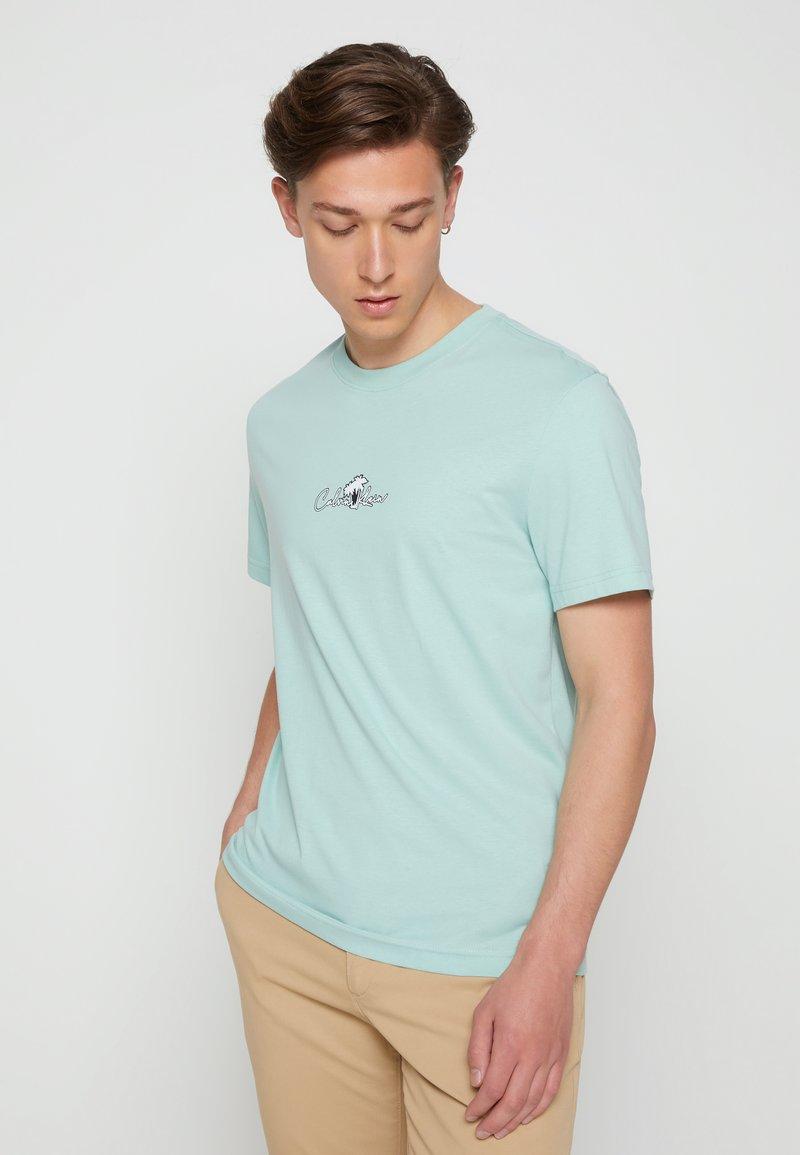Calvin Klein - SUMMER CENTER LOGO - T-shirt con stampa - crushed mint
