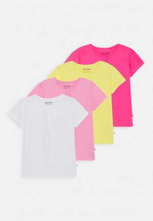 GIRLS 4 PACK - T-shirts basic - multi coloured