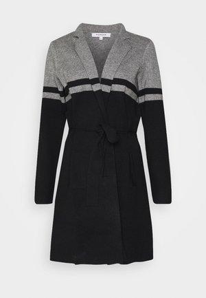 Cardigan - gris chine/noir