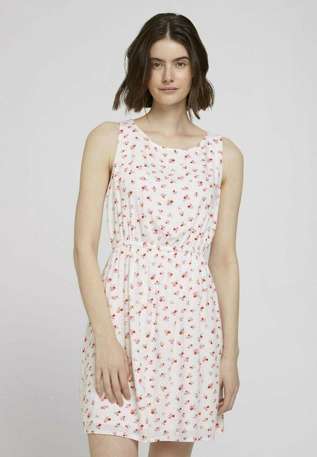 PRINTED MINIDRESS - Sukienka letnia - beige